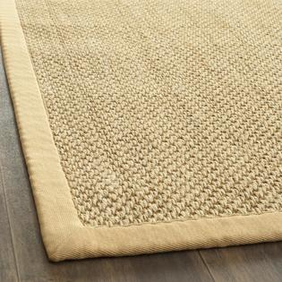 Sisal Tiger Eye Rug Natural Canvas Bound