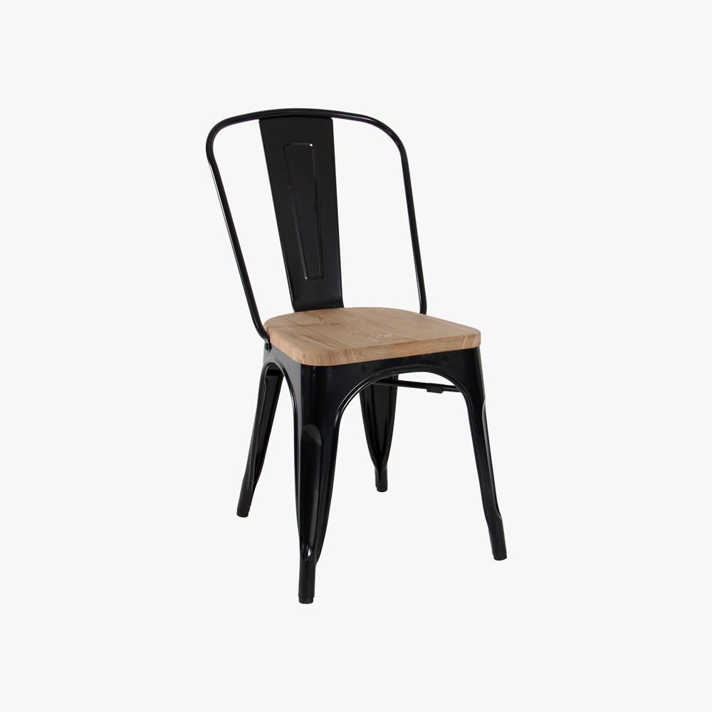 replica tolix high back dining chair with timber seat u3 shop. Black Bedroom Furniture Sets. Home Design Ideas