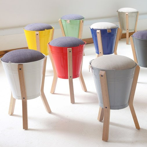 u3 shop bucket stool handmade from recycled south african steel