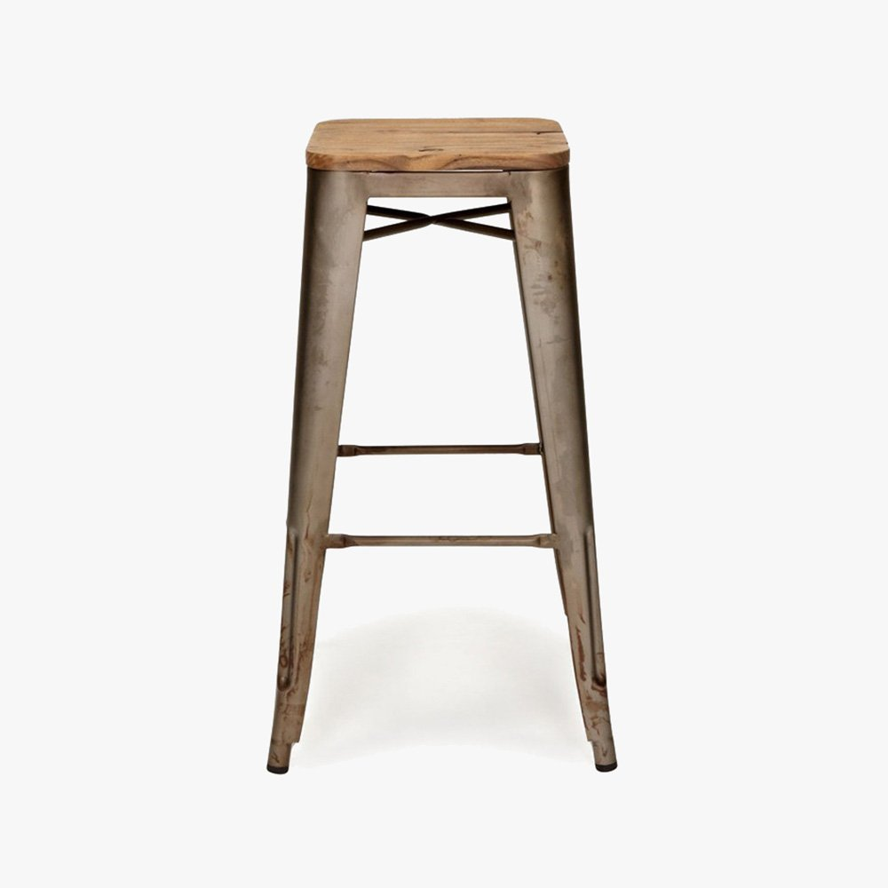 Replica tolix kitchen stool with timber seat u3 shop for About a stool replica